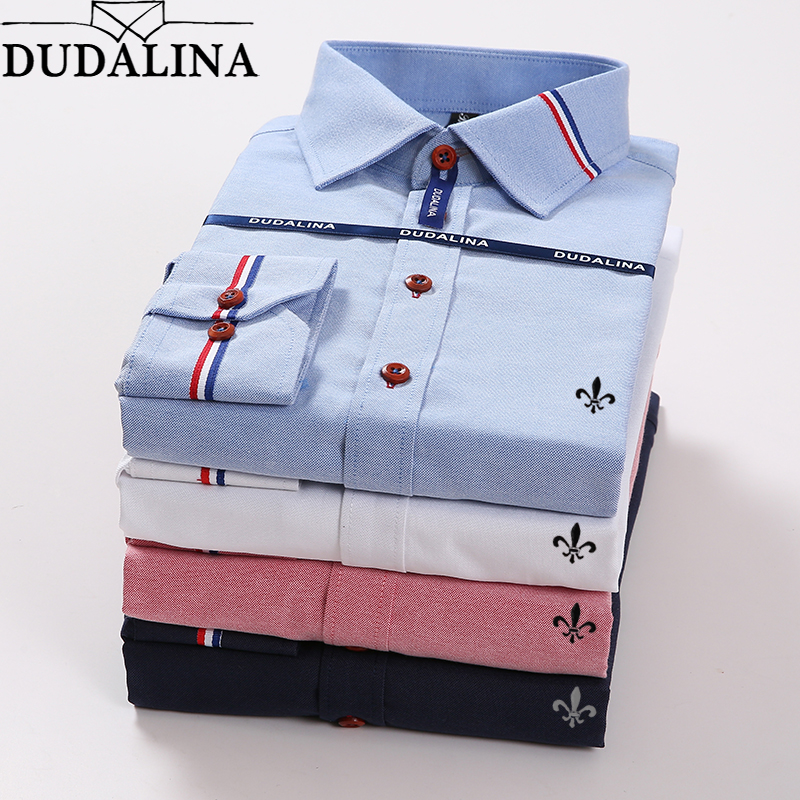 Oxford 2019 Blouse Dudalina Camisa Social Masculina Long Sleeve Cocktail Dresses Free Shipping Slim Fit Plus Size Jeans Male