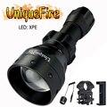 UniqueFire 1503 XPE регулируемый светодиодный фонарик 50 мм объектив зум 3 режима набор ламп: фонарь  USB зарядное устройство  крепление для прицела  кр...