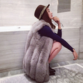 2017 Four color  Autumn and winter new COCO LIMITED Finland imports of non-perforated fox fur fur long vest coat Artificial fur