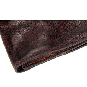 Image 5 - AETOO ultra ince erkek uzun cüzdan deri orijinal retro cüzdan kişilik vintage kafa katman deri basit genç erkek cüzdan