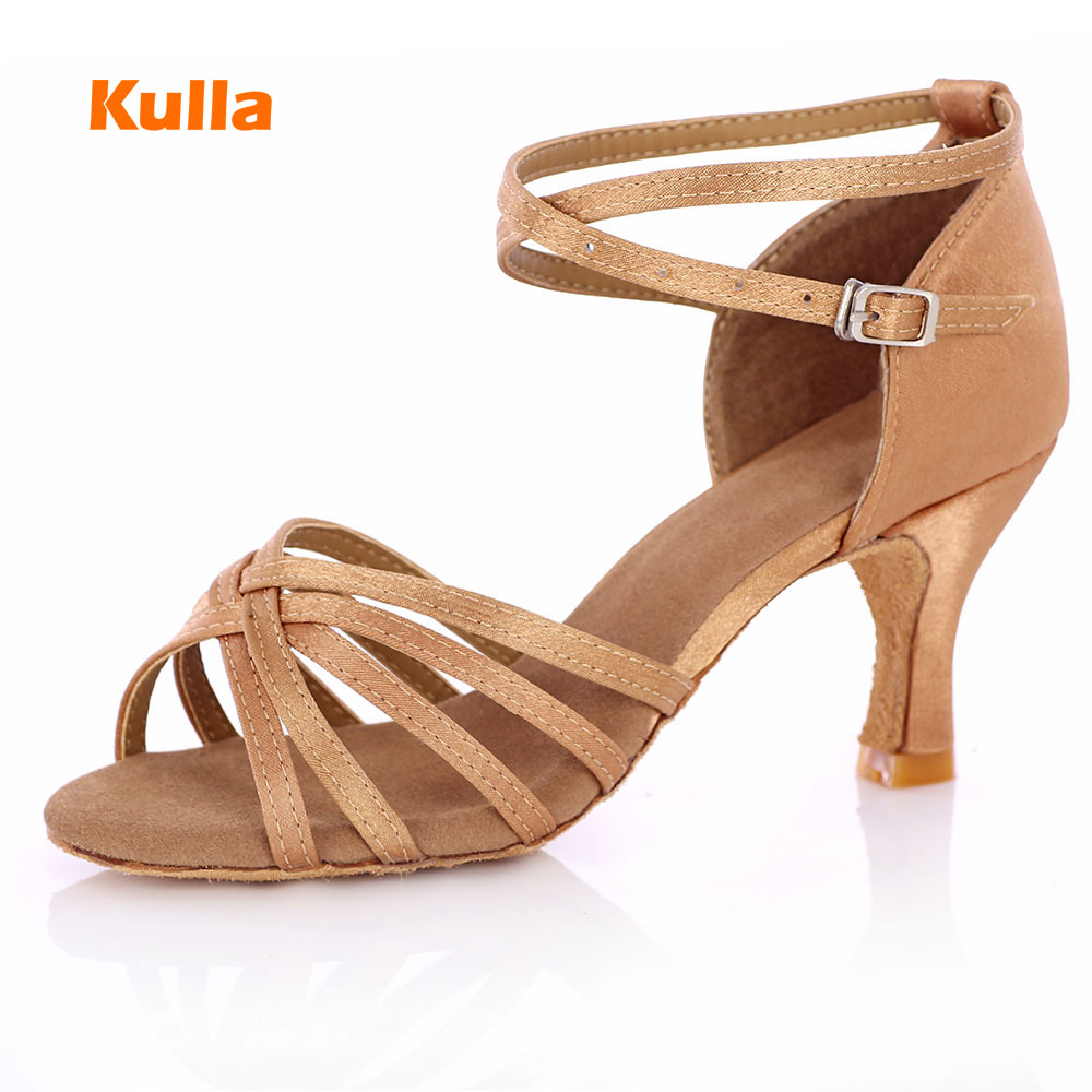 Woman New Arrival Hot Sale Heel Ballroom Tango Latin Dance Shoes For Women Dancing Salsa Shoes High-heeled Adult Soft Outsole