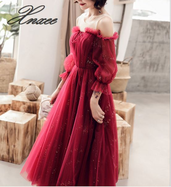 Dress banquet dress ladies temperament was thin 2019 new