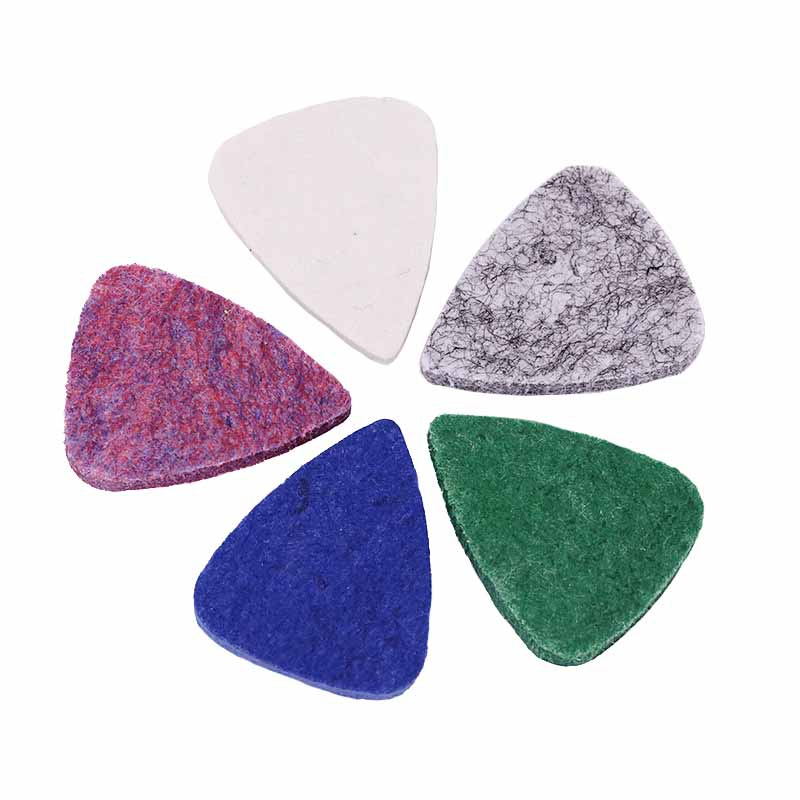 Ukulele Pick Colorful Soft Felt Plectrum Mediator Ukulele Accessories For Concert Soprano Tenor Colorful Soft Felt Plectrum