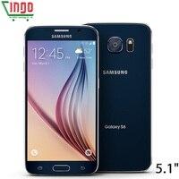 Открыл samsung Galaxy S6 край G925F/S6 G920F 4G LTE мобильный телефон 3 GB Оперативная память 32 ГБ Встроенная память Octa Core 5,1