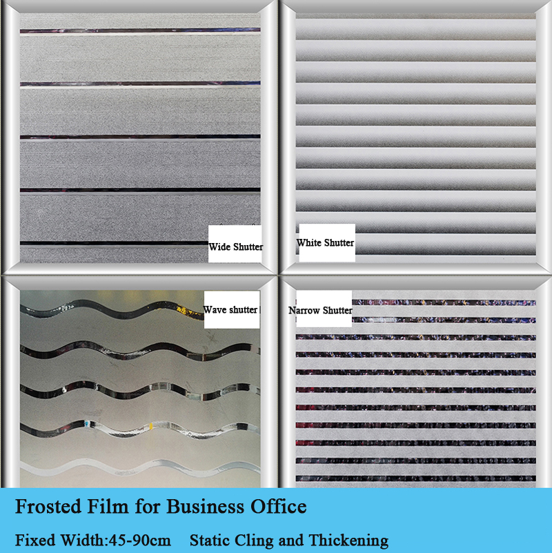 Back To Search Resultshome & Garden Thickening Frosted Static 45/60/90cm Width Shutter Business Office Glass Partition Glass Sticker Window Film Stripe Window Decor Attractive Appearance
