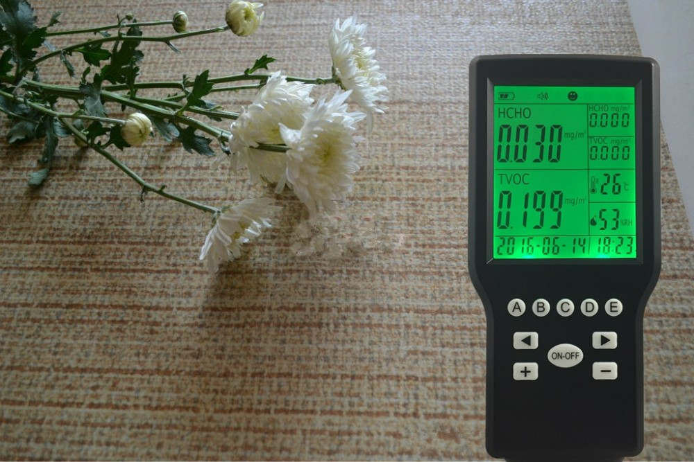 Free Shipping Digital multi-functional 4-in1 Indoor Air Quality Data logger with TVOC Sensor & formaldehyde sensor digital indoor air quality carbon dioxide meter temperature rh humidity twa stel display 99 points made in taiwan co2 monitor