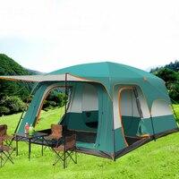 LT 1 т 210 т полиэстер 8 12 человек большой FamilyTent две спальни и одна гостиная открытый кемпинг палатки