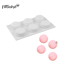 FILBAKE Silicone Mold for Soap Chocolate Molds round Cake Baking Bakeware Tool handmade soap Pudding Pastry Moulds