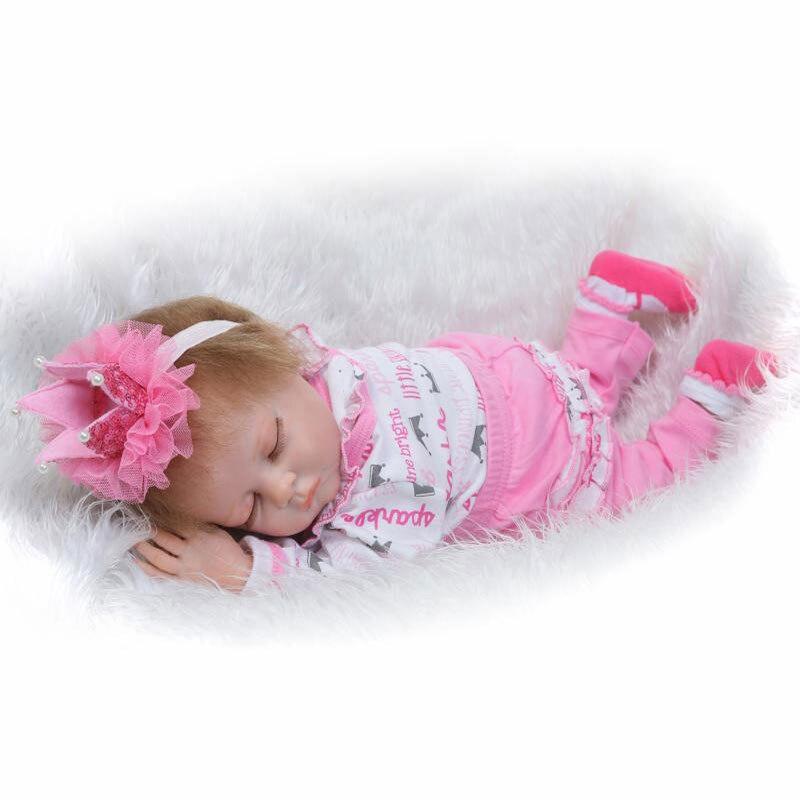 NPK Mohair BeBe Reborn 22inch Soft Silicone Reborn Dolls 55CM PP Cotton Body Realistic Lifelike Newborn Kids Gift oasis mohair