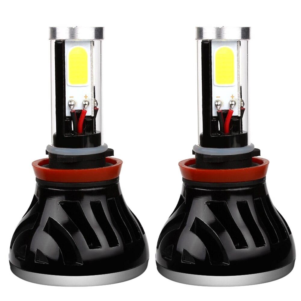 ФОТО Waterproof G5 H11 Car LED Headlight H1 H3 H4 H7 HB4 Head Light Lamp With Fan COB Car-styling 80W 6000K Automobile Accessories