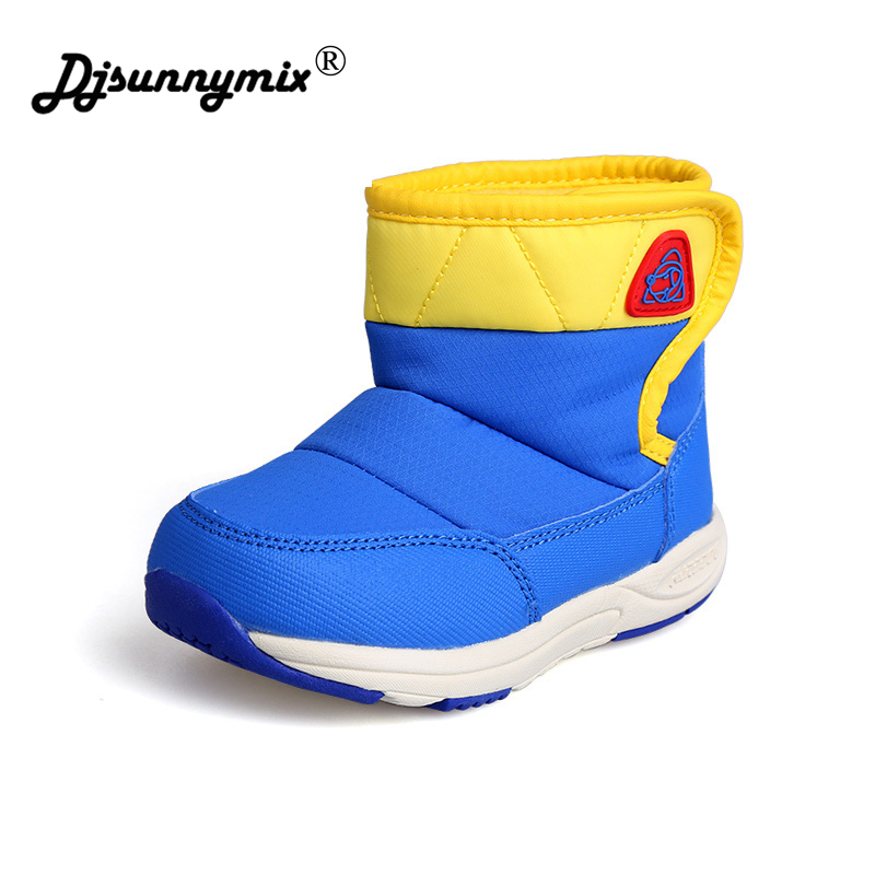 DJSUNNYMIX Baby Winter Boots Infant Toddler Newborn Cute Cartoon Bear Shoes Girls Boys First Walkers Super Keep Warm Snow Boot
