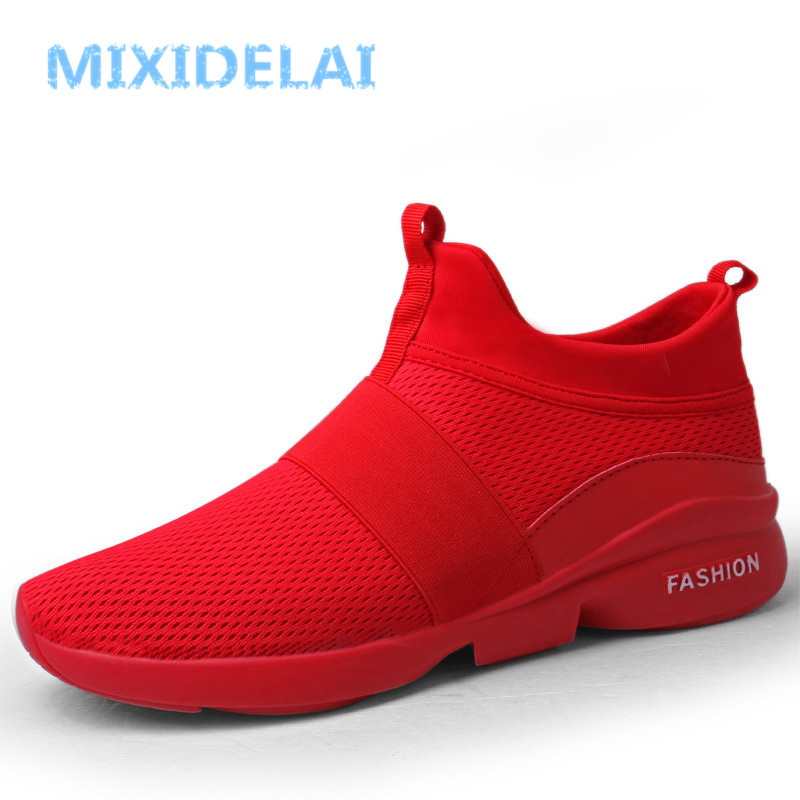 MIXIDELAI Spring/Autumn New models men shoes 2018 fashion comfortable youth casual shoes For Male soft mesh design lazy shoes