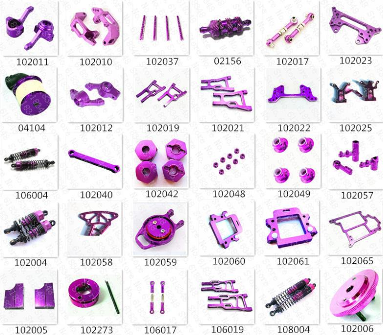 HSP Hobby Upgrade Parts Kit Spare Parts Aluminum Alloy For HiSpeed Himoto Racing 1/10 4WD RC Model Car On/Off /Road Buggy Truck
