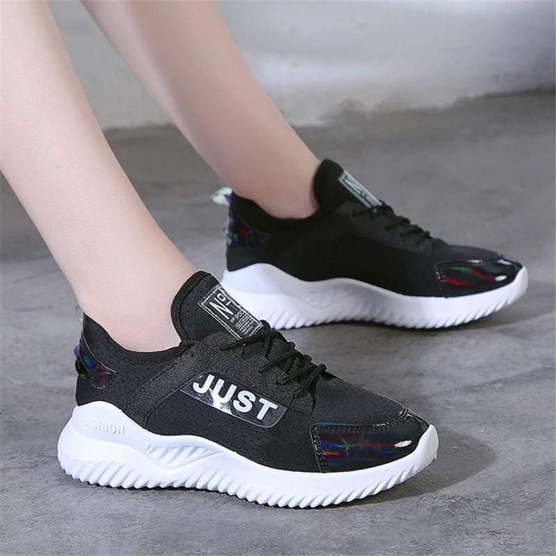 White Sneakers Women Mesh Casual Shoes Women Platform Breathable Summer Fitness Shoes Flats Lightweight Soft female shoes in Women 39 s Vulcanize Shoes from Shoes