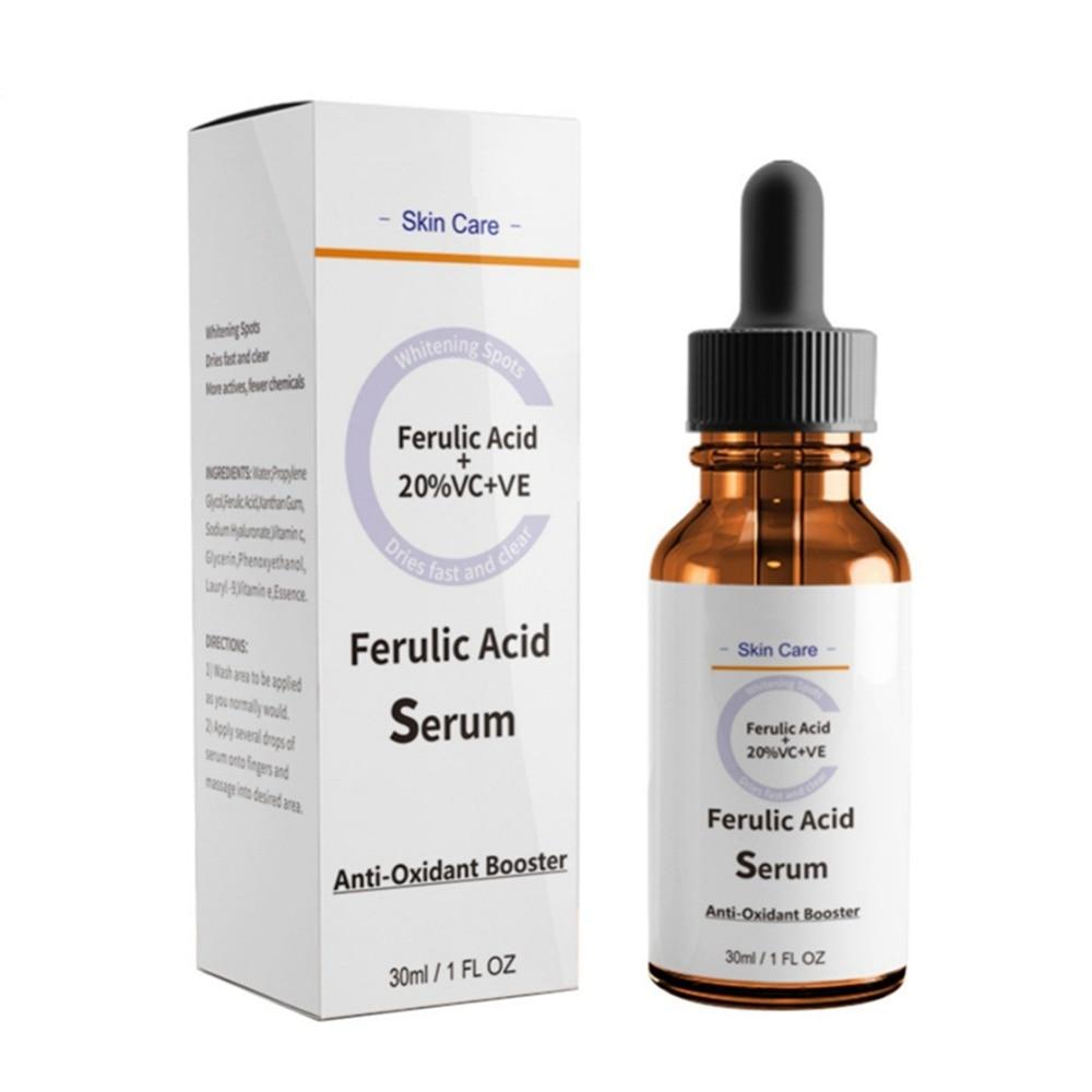 Facial Ferulic Acid Serum Moisturizing Exfoliation Repair Wrinkles Firming Skin Body Anti-Aging Body Anti-Oxidant Essence