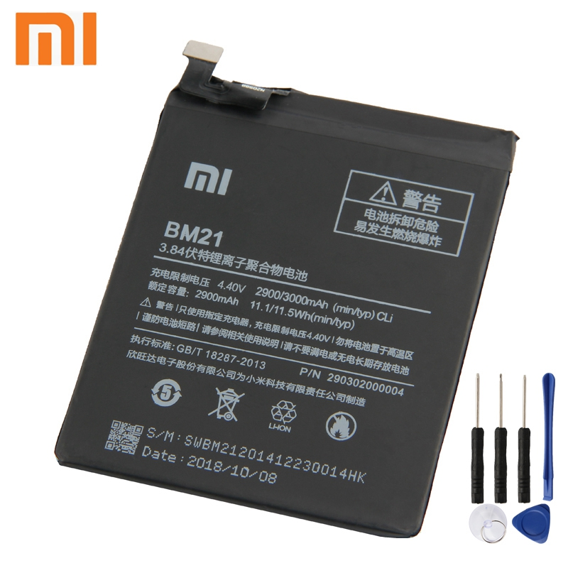 Xiao Mi Xiaomi Mi BM21 Phone Battery For Xiao mi Redmi Note Mi Note Note 5 7 quot Redrice Note BM21 2900mAh Original Battery Tool in Mobile Phone Batteries from Cellphones amp Telecommunications