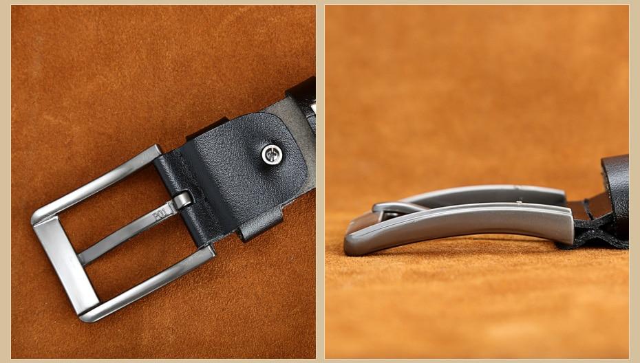 [Miluota] pasy designer mężczyźni wysokiej jakości prawdziwy skórzany pas dla mężczyzn luksusowe ceinture homme military style 130 cm mu012 29