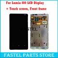 Для Nokia lumia 800 Новый Оригинальный ЖК-дисплей + сенсорный экран Полной Комплектации с Рамкой с сенсорный экран digitizer Бесплатные инструменты