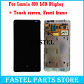 For Nokia lumia 800 New Original LCD display + touch screen Full Complete Set with Frame with touch digitizer screen Free tools