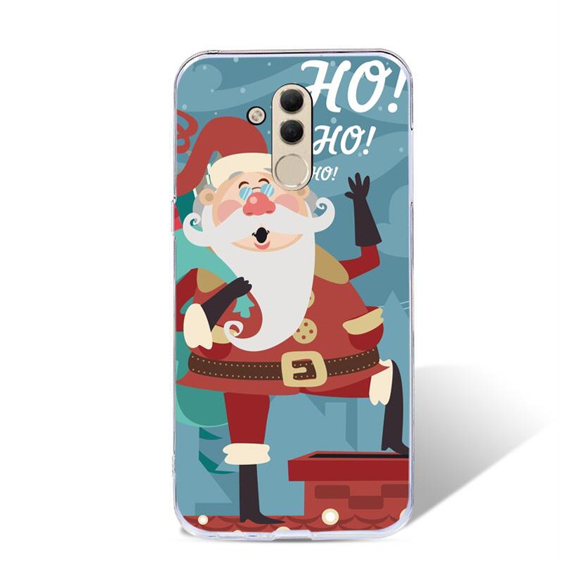 For Huawei Mate 20 Lite Case Christmas Mate 20 Lite SNE-LX1 Silicone Cover Lovely Santa Claus Deer Tree Snow Maimang7