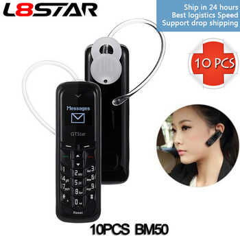 10PCS/LOT BM50 HUACP Mini CDMA Headphone Phone GTSTAR Wireless Bluetooth Headset earphones SIM L8star wholesale bm10 - DISCOUNT ITEM  0% OFF All Category