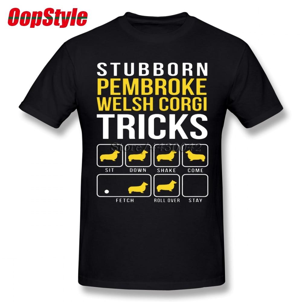 Men's Clothing Bright Pembroke Welsh Corgi Dog Trick T-shirt For Men Plus Size Cotton Team Tee Shirt 4xl 5xl 6xl Camiseta Providing Amenities For The People; Making Life Easier For The Population