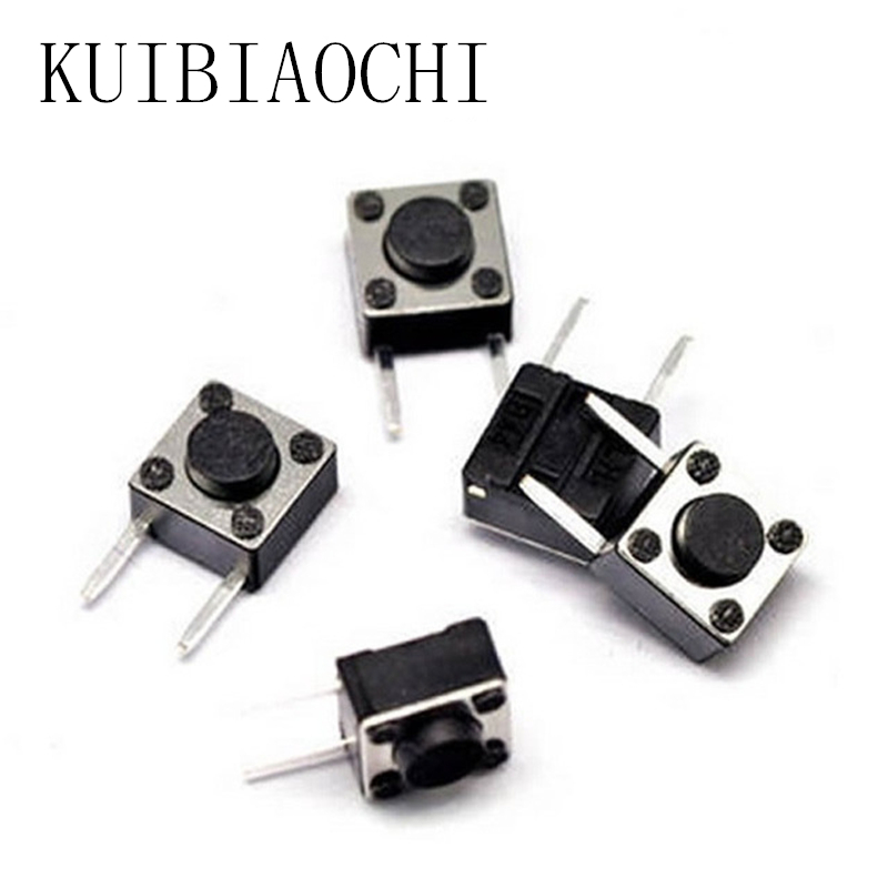 50pcslot 6*6*4.3mm micro switch DIP 2 PIN ONOFF Touch Button Touch Switch 6*6*4.3 keys button DIP 2pin