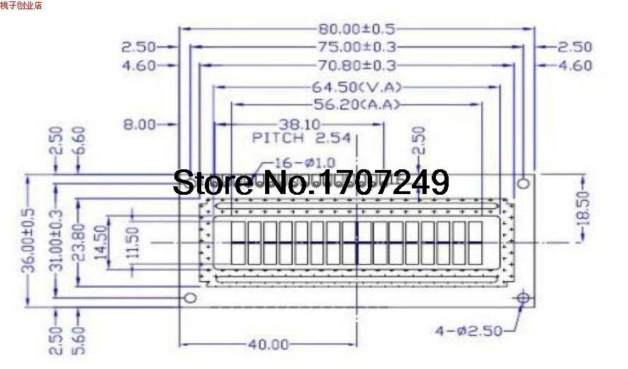 Free Shipping 1pcs LCD1602 LCD monitor 16x2 Character LCD Display Module  1602 5V blue screen and white code for arduino