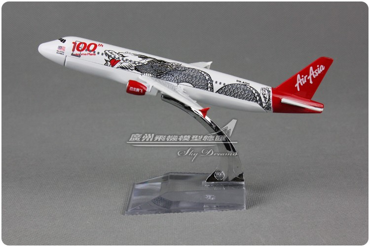 YJ 1/250 Scale Plane Model Toys Asia Air Dragon Pattern Airbus A320 100th 16cm Diecast Metal Airplane Model Toy For Gift/Kids model aircraft