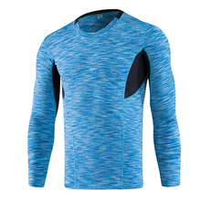 New Running Bodybuilding Long Sleeve T Shirt Men Quick Dry Compression Tight Jersey Fitness Gym Training T-shirt Sports  цена и фото