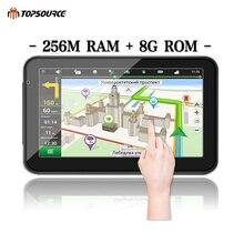 """TOPSOURCE 5 """"7"""" 256 M 8G hd voiture gps navigation camion navigateur précharge carte windows ce6.0 800 mhz MSB2531 bras Cortex A7"""