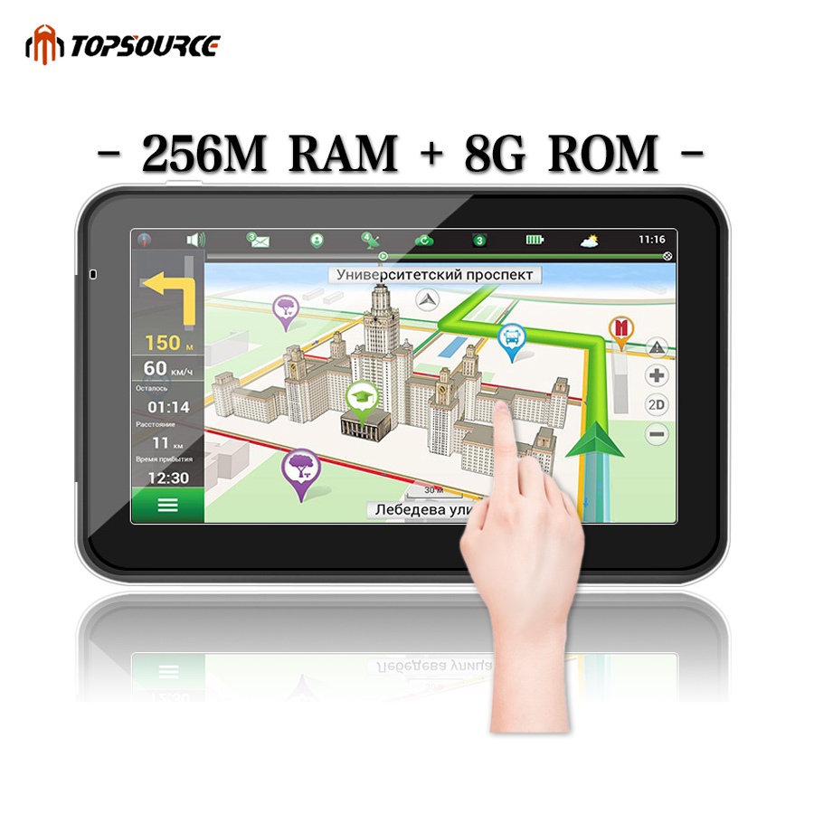TOPSOURCE 5 7 256M 8G hd car gps navigation truck gps navigator preload gps map windows ce6.0 800mhz MSB2531 ARM Cortex A7TOPSOURCE 5 7 256M 8G hd car gps navigation truck gps navigator preload gps map windows ce6.0 800mhz MSB2531 ARM Cortex A7