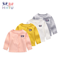 HHTU 2017 Fashion Newborn Baby Girls Spring Autumn Outerwear Kids Clothes Jacket Children Clothing Coat Cotton