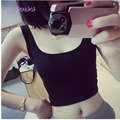 4 Colors Summer Style Sleeveless U Crop tops Women Short Crop Top Fitness Tank Tops Female Vest Tube Top,WY1555
