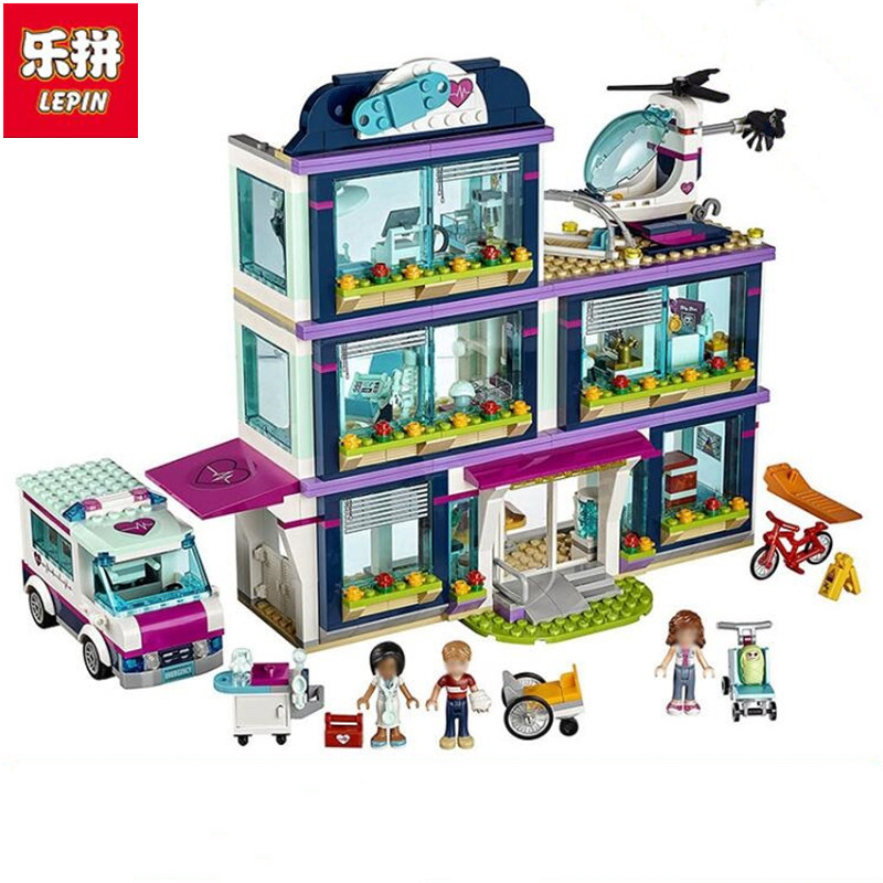 Lepin 01039 Heart Lake Love Hospital 932 Pcs Mini Bricks Girls Friends Series Sets Sale Building Blocks Toys For Children