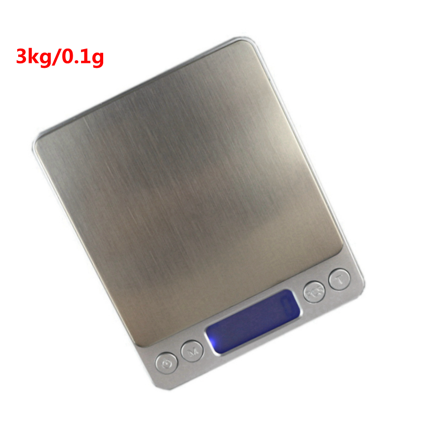 3kg/0.1g High Accuracy Kitchen Scale for Home 3000g/0.1g Digital Jewelry Weight Balance Pocket Scales with 2 Transparent Trays  Весы
