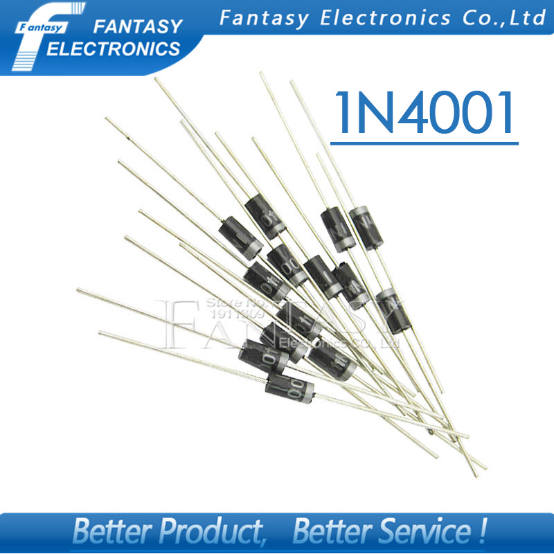 100PCS Rectifier Diode IN4001 1A 50V DO-41 1N4001