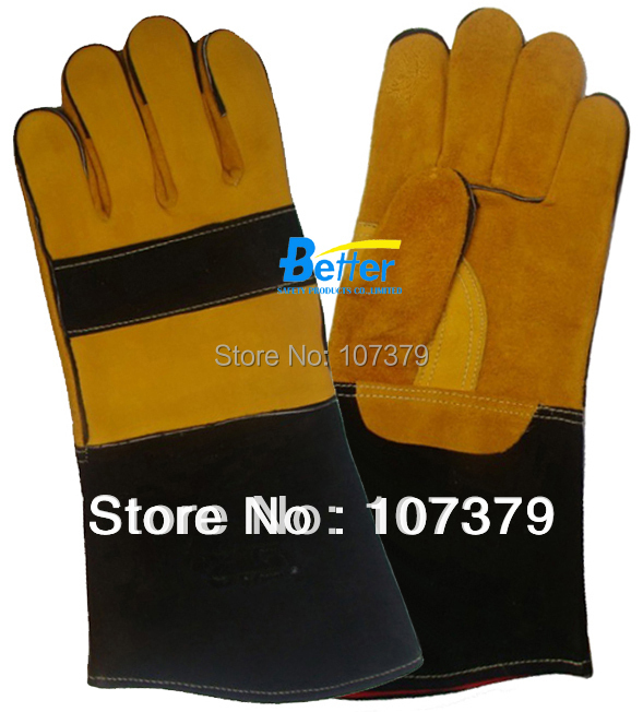 Leather Safety Glove TIG MIG Welding Glove Grain Cow Leather Welding Work Glove maritime safety