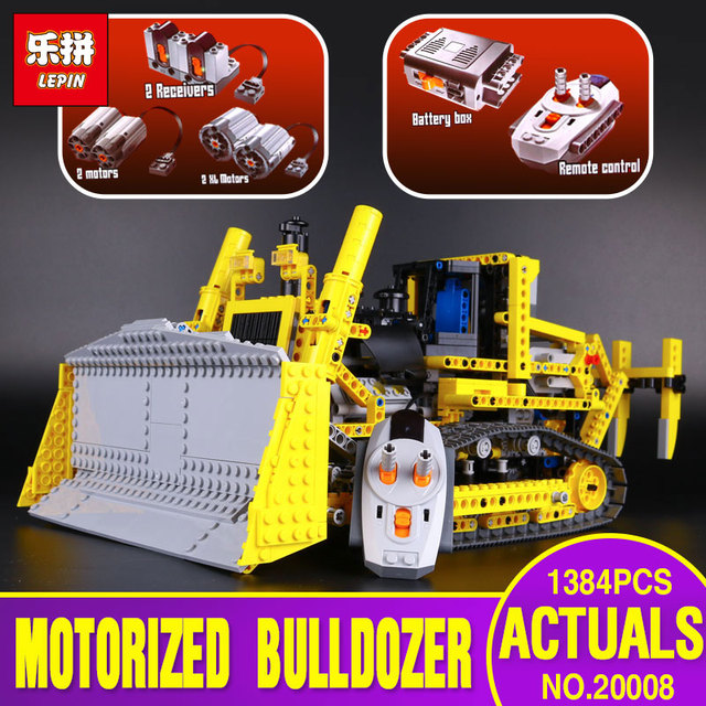 LEPIN 20008 technic series remote contro lthe bulldozer Model Assembling  Building block Bricks kits Compatible legoing