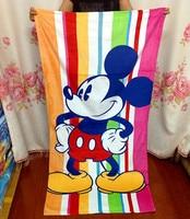 155 75cm Kawaii Travel Swim Drying Bath Towels Microfiber Mickey Minnie Spa Beach Towel For Adults