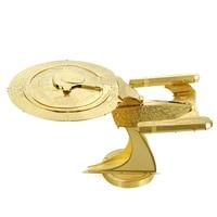 Brass Star Trek Uss Enterprise Ncc 1701d Fun 3d Metal Diy Miniature Model Kits Puzzle