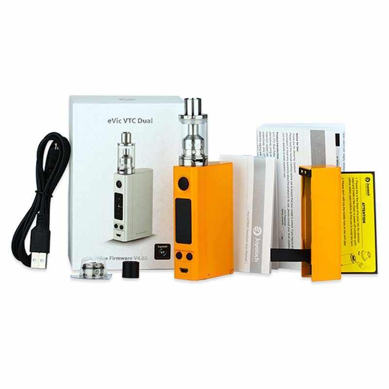 100% Оригинальный Joyetech eVic VTC двойной набор, электронная сигарета 75 Вт 150 Вт eVic-VTC двойной бокс мод для емкости 4 мл, бак ULTIMO без батареи