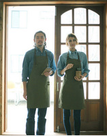 Army Green Denim Style Aprons Catering Kitchen Apron Unisex Woman Men Male Cooking Restaurant Barista Work Apron Delantal Cocina