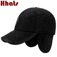 Brand Winter Baseball Cap With Ear Flap Outdoor Windproof Warm Earflap Snapback