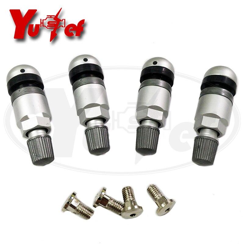 4pcs Tire Valve Stem Car Tubeless Wheel Tire Valve Stem Rear Tire Pressure Monitor Valve Stem Cap
