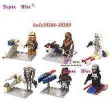 6 pcs star wars Stormtrooper de super-heróis da marvel Wookiee Chewbacca building blocks define bricks modelo brinquedos para crianças