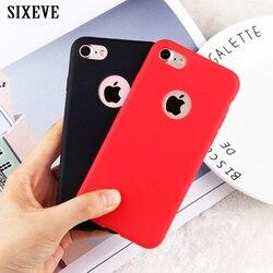 SIXEVE Luxo Soft Case de Silicone Para iPhone 6 s 6 s 7 8 Plus 5 5S SE X 10 6 além de 6 sPlus 7 Plus 8 Mais Bonito Cores Doces Tampa de Borracha