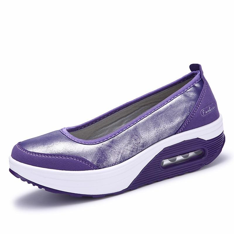 Lemai 2017 Autumn Women Flat Platform Breathable Shoes Women Breathable Platform Mesh Casual Shoes F 36d9d8