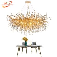Modern LED Crystal Glass Drop Chandelier Lighting Aluminum Branch Chandelier Hanging Light Lustre de Cristal Chandeliers Lamp все цены