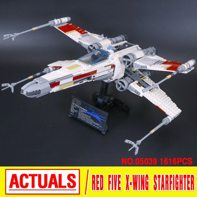 LEPIN 05039 Star Wars series rojo de cinco X-wing starfighter Modelo Building Blocks classic Compatible 10240 Juguetes para niños